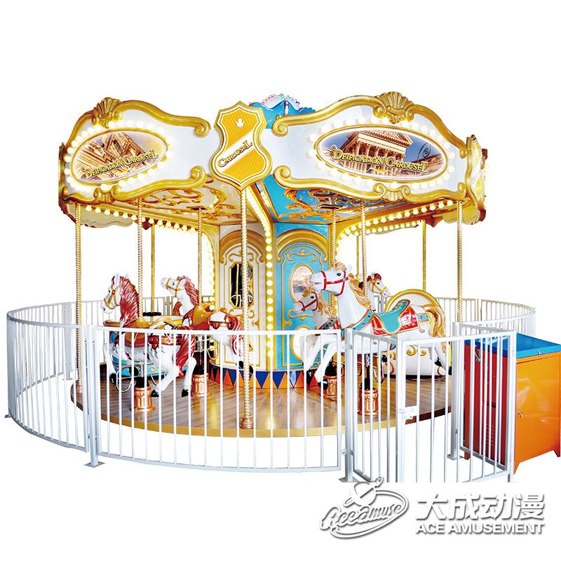 大成动漫【12座宫延转马】 高贵欧式风格旋转木马